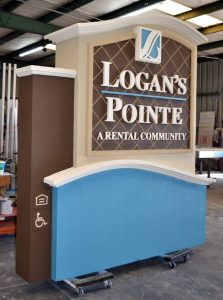 Sandblasted Signs custom monument sign dimensional letters sandblasted 223x300